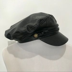 dd7e11865d3530 Forever 21 Accessories | Faux Leather Cabbie Hat | Poshmark